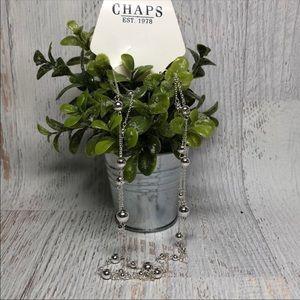 Chaps Ralph Lauren Silver Bead Necklace N519